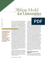 Offshore Model for Universities