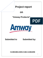 customer satisfaction towards amway products