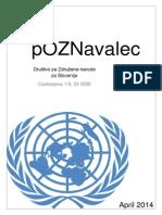 Newsletter Društva za ZN za Slovenijo