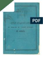 Inventaire du mobilier de l'école de Saucède - De  1860 à 1878