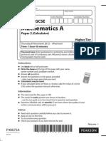 Nov 2012 Calc Maths GCSE  Paper