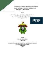 Skripsi Lengkap -Feb-manajemen- Hulaifah Gaffar - Pengaruh Stres Kerja Terhadap Kinerja Karywan