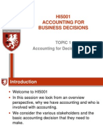 Topic 1 Accounting for Decision Making 2012
