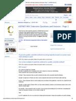 ASP.net MVC Interviews Questions