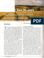 Managing farmland for food & wildlife. Prof Chris Stoate for British Wildlife. Feb 14.