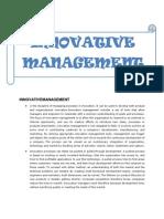 Creativity and Innovation Management