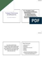 Trabajos Preliminares en Edificaciones