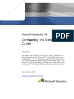 Configure Default Cubes in Dynamics AX 2009 OLAP