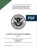 ICE National Detainee Handbook 2007