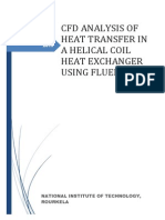 CFD ANALYSIS OF HEAT TRANSFER IN A HELICAL COIL HEAT EXCHANGER USING FLUENT