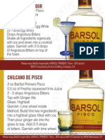 Barsol Pisco Tear Off Shelf Talker