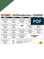 El Breakfast Menu Nov 09