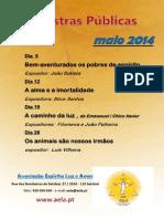 Palestras públicas maio 2014