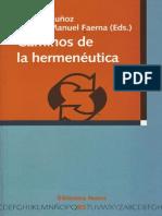 Libro -H- -Jacobo Muñoz y Àngel Manuel Faerna (Ed.)- Caminos de La Hermeneutica
