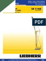 Liebherr LR1160 Crane Chart