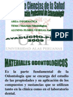 Materiales Odontologicos