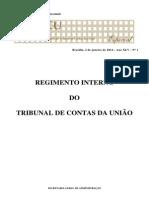 Regimento Interno Do TCU - 22-04-2013