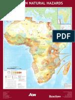 ISDR Map African Natural Hazards