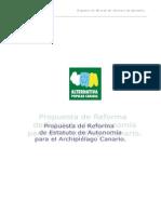Propuesta de Reforma de Estatuto de Autonomía