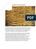 Ancient Egyptian Writing and Hieroglyphs