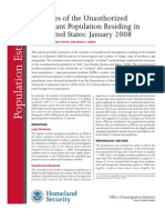 DHS - Estimates of the Unauthorized Immigrant Population Residing in the United States (Jan. 2008)