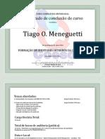 Certificado de Conclusão de Curso Formação de Auditores Internos Da Qualidade