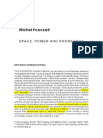 FOUCAULT Space Power and Knowledge