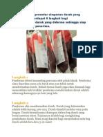 Bagaimanakah Prosedur Simpanan Darah Yang Didermakan