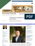 El Desafio de La Globalizacion Para El Perú