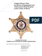 Impact Review of the 287(g) Program Upon the County of Morris, NJ (Oct. 19, 2007)