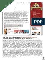 "29 Aprile 2014 - MANGIALIBRI - Luca Benvenga su ""Cani acerbi"" di Gianluca Conte"