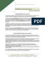 Com Presse - Press Release FECIF Avril - April 2014 Eng - Fra