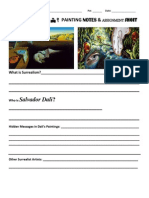 surrealism notes and assignment sheet