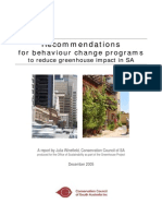 Report on Behaviour Change