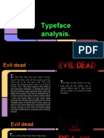 different fonts analysis