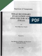 Texas Secondary Evaluation and Analysis for Scour (TSEAS)
