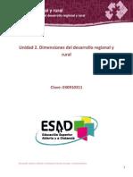 Unidad 2. Dimensiones Del Desarrollo Regional y Rural