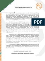 Declaración Pública MG Sobre La FEUC
