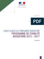 29.04.2014 Discours de Manuel VALLS, Premier ministre, sur le programme de stabilité, à l'Assemblée nationale.pdf