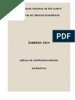 Modulo Ingreso 2014