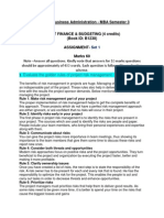 Pm 0012 – Project Finance & Budgeting