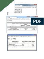 Ejercicios Tablas HTML