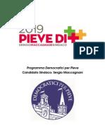 Programma INTERO depositato in Comune dei Democratici per Pieve