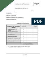 F-Com-03 Evaluación de Proveedores