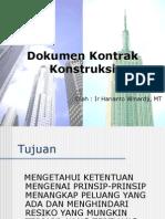Dokumen Kontrak Konstruksi