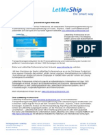 LetMeShip Professional Präsentiert Eigene Webseite