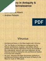 Theories in Antiquity & Renaissance