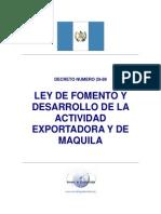 Decreto 29-89 Ley_maquilas