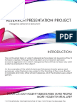 research presentation project