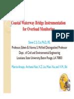 Coastal Waterway Bridge Instrumentation for Overload Monitoring